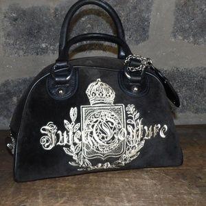 JUICY COUTURE brown velvet leather handbag